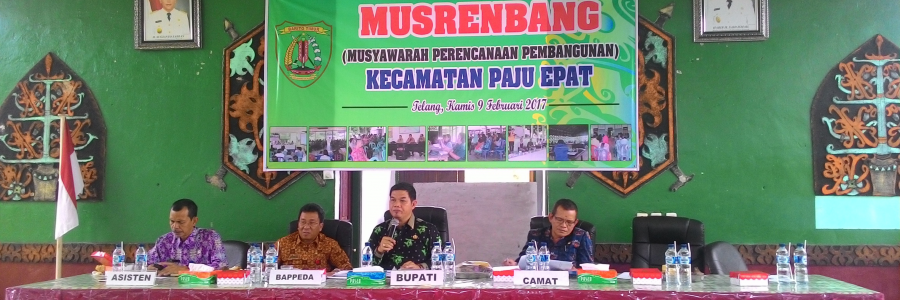 Pemkab Bartim Menyelenggarakan Musrenbang Kecamatan Tahun 2017