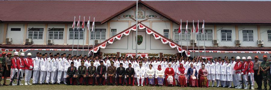 Bupati Bartim Pimpin Upacara Hut RI Ke 74 Tahun