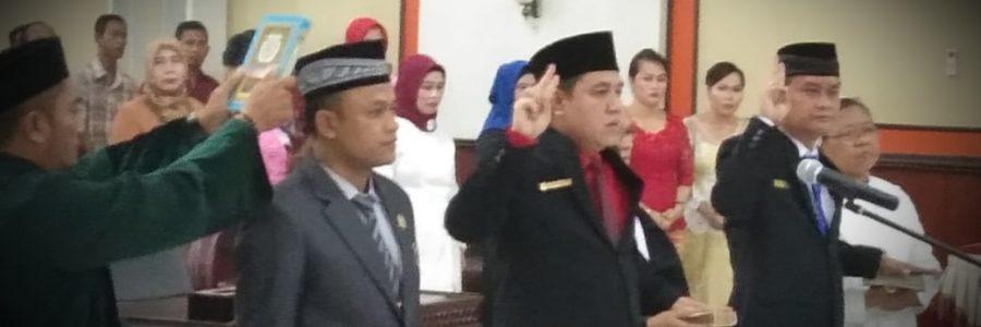 Bupati Harapkan Pejabat DPRD Yang Di Kukuhkan Bisa Menjalankan Amanah