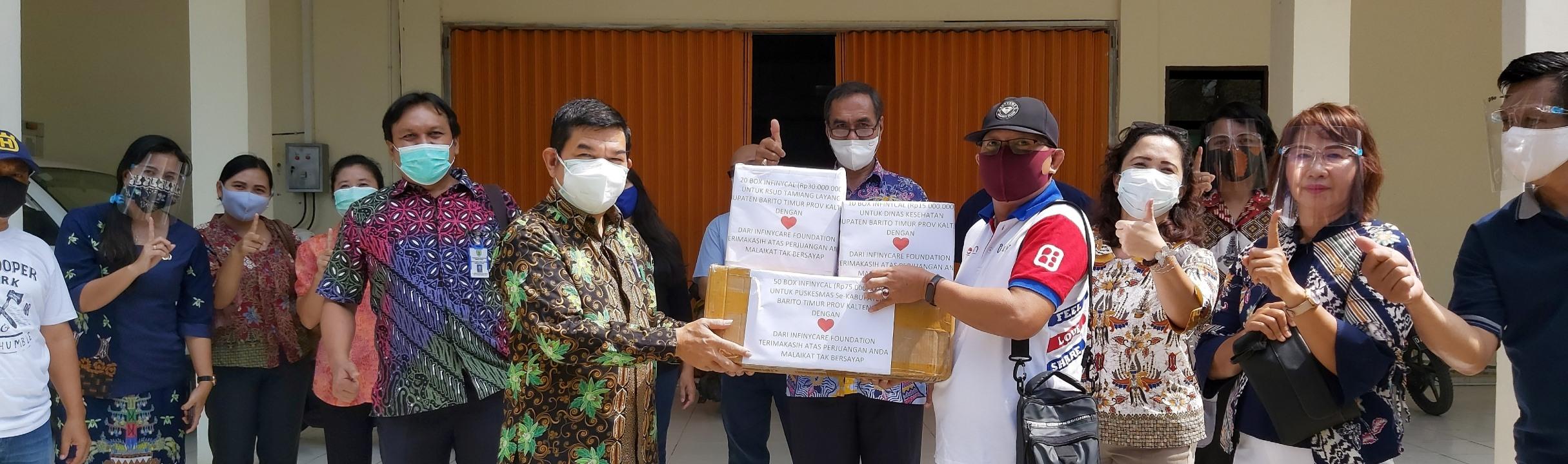 Dinas Kesehatan Barito Timur Terima Bantuan Suplemen InfinyCal