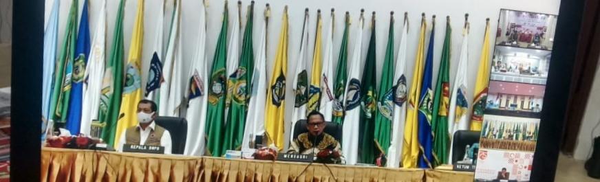 Rapat Koordinasi Dan Pengarahan Tentang Pencapaian Target Realisasi APBD Tahun 2020 Dan Sosialisasi Penggunaan Masker.